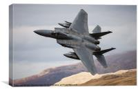 F 15C Eagle Low Fly, Canvas Print