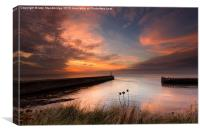 Aberystwyth harbour mouth, Canvas Print