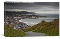 Aberystwyth from Consti on a grey day, Canvas Print