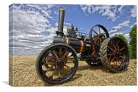 Steam traction engine, Canvas Print