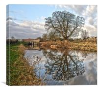 Kenet and Avon Canal, Canvas Print