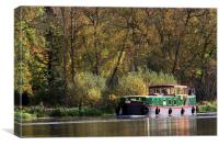 Boating on the river thames, Canvas Print