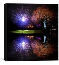 Kew Christmas lights, Canvas Print