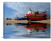 Hastings fishing boats, Canvas Print