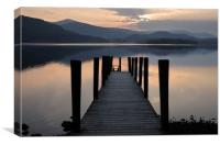 Ashness landing stage, Canvas Print