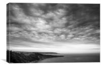 Asperitas clouds  Dorset coast, Canvas Print