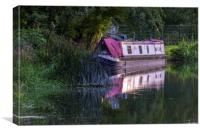 Kennet narrow boat, Canvas Print