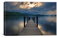 Ashness jetty, Canvas Print
