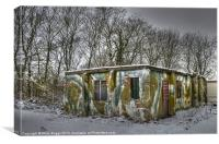 WWII Building Rufforth Airfield, Canvas Print