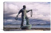 Fishermen memorial, Newlyn, Canvas Print