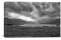Storm over Loch Arklet, Canvas Print