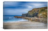 Portreath before the Storms, Canvas Print