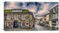 The Ship Inn Mevagissey, Canvas Print