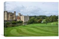 Putting at Leeds Castle Golf Course , Canvas Print
