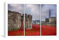 Blood Swept Lands Tryptych , Canvas Print