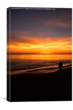Watching the Sunset, Canvas Print