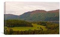 Loch Ness from Falls of Foyers viewpoint, Canvas Print