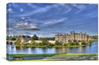Leeds Castle bench view, Canvas Print