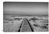 Dungeness Boardwalk to the Sea, Canvas Print