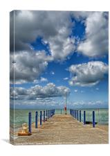 Whitstable Harbour Wall, Canvas Print