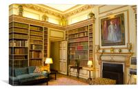 The Library Leeds Castle, Canvas Print