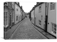 Whitby in Black & White, Canvas Print