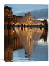 The Louvre, Canvas Print