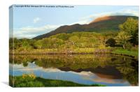 Reflections on Loch Etive, Canvas Print