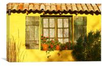Sunshine and Shutters, Canvas Print
