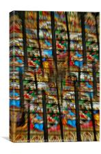 Stained Glass Abstract, Canvas Print