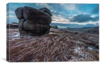 Wool Packs - Kinder Scout, Canvas Print