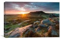 Carl Wark to Higger Tor, Canvas Print