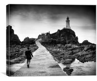 The walk to Corbiere lighthouse, Canvas Print
