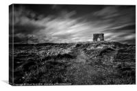 bw Dunnideer Hill Fort plus, Canvas Print