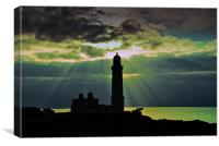 Corswell lighthouse, Canvas Print