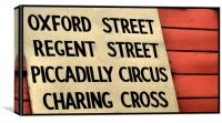 from Oxford Street to Charing Cross, Canvas Print