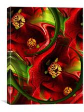 tropical red, Canvas Print