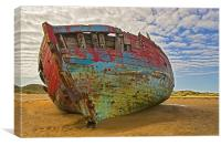 Wreck at Crowpoint, Canvas Print
