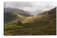 Borrowdale towards Great Gable, Canvas Print
