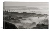 Mist in the Culm Valley, Canvas Print