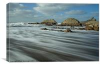 Blegberry beach Devon, Canvas Print