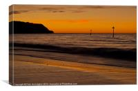 Sunrise Towards Orcombe Point - Exmouth, Canvas Print