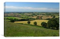 View from Raddon Top, Canvas Print