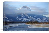 Rockies North of Jasper, Canvas Print