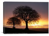 Sunrise and Sidmouth Gap, Canvas Print