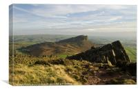 The Roaches and Hen Cloud, Canvas Print