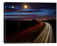 Light trails, Canvas Print