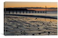 Groynes at Dawlish Warren, Canvas Print