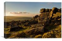 Higher Tor near Belstone, Canvas Print