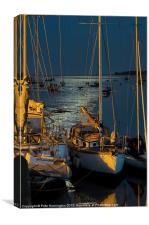 Topsham boats, Canvas Print